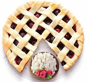 Песочный пирог с творогом и малиной - Фото