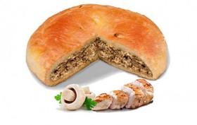 Пирог с курицей и грибами - Фото