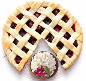 Песочный пирог с творогом и вишней - Фото