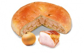 Пирог с окороком и луком - Фото