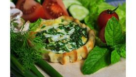 Перепечки с яйцом и зеленым луком - Фото