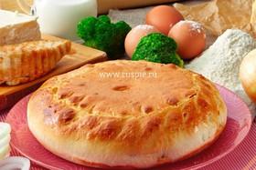 Пирог с индейкой, брокколи и брынзой - Фото