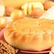 Пирог с гречневой кашей, грибами, луком Фото