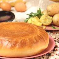 Пирог с картофелем и баклажанами Фото