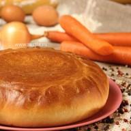 Пирог с рисом, морковью и репчатым луком Фото
