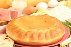 Пирог с ветчиной и сыром - Фото