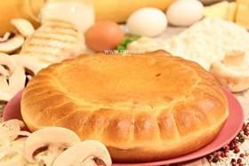 Пирог с кроликом и грибами - Фото