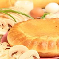 Пирог с индейкой и грибами Фото