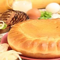 Пирог с печенью и капустой Фото