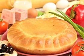 Пирог пицца с ветчиной - Фото