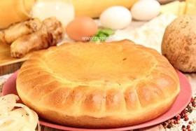Пирог с цыпленком и корнем сельдерея - Фото