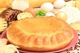 Пирог с печенью ягненка и картофелем - Фото