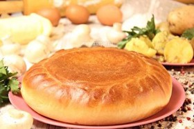 Пирог с картофелем и грибами - Фото