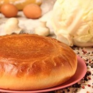 Пирог с грибами и капустой Фото