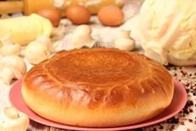 Пирог с грибами и капустой - Фото