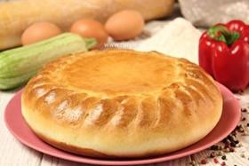Пирог с кабачком и болгарским перцем - Фото