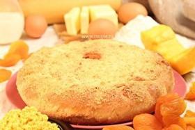 Пирог с тыквой, курагой и пшенной кашей - Фото