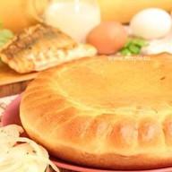Пирог с судаком и капустой Фото