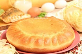 Пирог с судаком и капустой - Фото