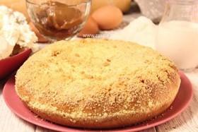 Пирог с творогом и сгущенкой - Фото
