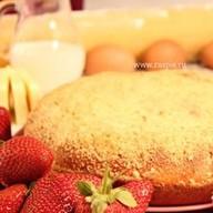 Пирог с творогом и клубникой Фото