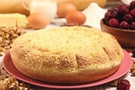 Пирог с орехом и ежевикой - Фото