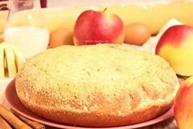 Пирог с яблоком и корицей - Фото