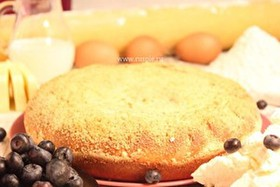Пирог с творогом и черникой - Фото