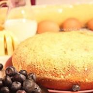 Пирог с творогом и черникой Фото