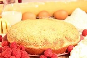 Пирог с творогом и малиной - Фото
