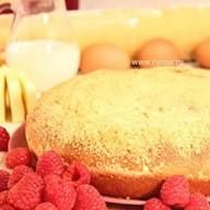 Пирог с творогом и малиной Фото