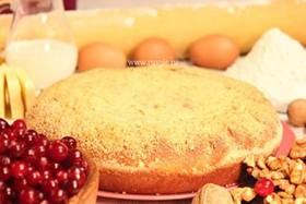 Пирог с орехом и клюквой - Фото