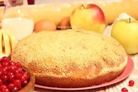 Пирог с яблоком и красной смородиной - Фото