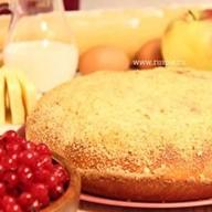 Пирог с яблоком и красной смородиной Фото