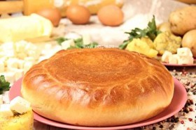 Пирог картофельный с брынзой - Фото