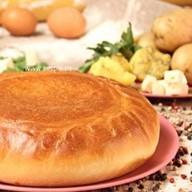 Пирог картофельный с брынзой Фото