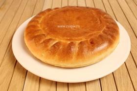 Пирог с грибами и капустой постный - Фото