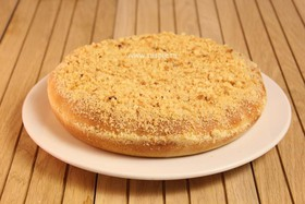 Пирог с яблоком и брусникой постный - Фото