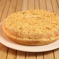Пирог с орехом и малиной постный Фото