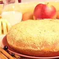 Пирог с яблоком и черноплодной рябиной Фото