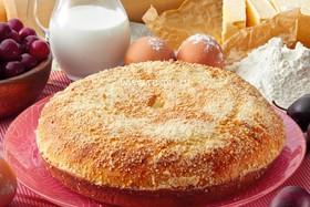 Пирог со сливой и вишней - Фото