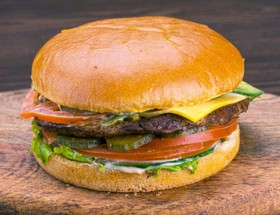 Чизбургер с куриной котлетой - Фото