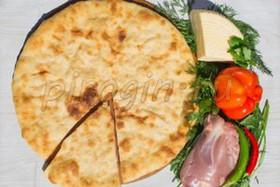 Осетинский пирог индейка, грибы, сыр - Фото