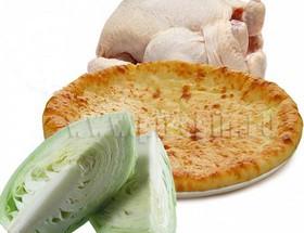 Осетинский пирог с курицей и капустой - Фото