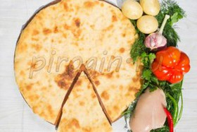 Осетинский пирог с курицей и картошкой - Фото