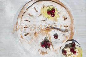 Осетинский пирог с яблоками и вишней - Фото