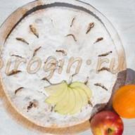 Осетинский пирог с яблоками и апельсинам Фото