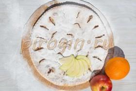 Осетинский пирог с яблоками и апельсинам - Фото