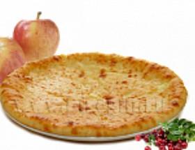 Осетинский пирог с яблоками и клюквой - Фото