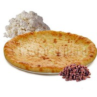 Творожный пирог с изюмом Фото